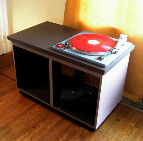 Vintage Transcription Disc Collection Turntable For Kitchen Cabinets